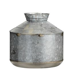 Galvanized Vase, Medium, Grey | Pottery Barn (US)