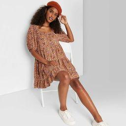 Women's Puff Short Sleeve Dress - Wild Fable™ | Target