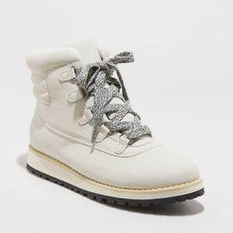 Women's Calyn Puffer Collar Winter Boots - Universal Thread™ Bone | Target