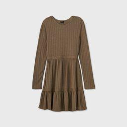 Girls' Pointelle Tiered Dress - art class™ | Target