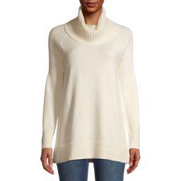 Time and Tru Women's Cowl Neck Tunic Sweater   Walmart (US)