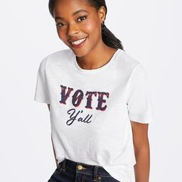 Vote Y'All Crewneck Slub Tee   Draper James (US)