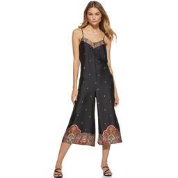 Scoop Women's Printed V-Neck Jumpsuit | Walmart (US)