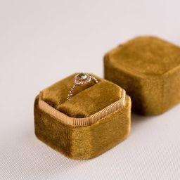 Velvet box - Velvet ring box - Octagonal ring box - Wedding - Gift - Brandy punch | Etsy (US)