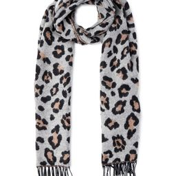 Scoop Women's Leopard Print Jacquard Scarf   Walmart (US)