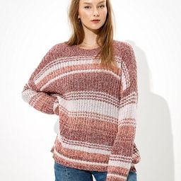 AE Oversized Striped Crew Neck Sweater | American Eagle Outfitters (US & CA)