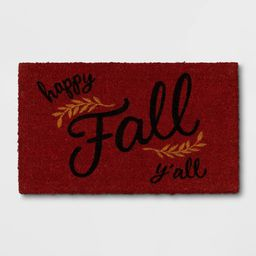 "1'6""""x2'6"""" """"Happy Fall You All"""" Doormat Rust - Threshold | Target"