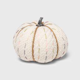 Halloween Medium Tweed with Stitch Fabric Harvest Pumpkin (with White Contrast Jute Base) - Spritz | Target