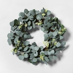 """20"""" Faux Eucalyptus with Seeds Wreath - Hearth & Hand™ with Magnolia 