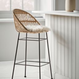 Rounded Wicker Counter Stool | Cox and Cox