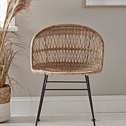 Rounded Wicker Dining Chair | Cox and Cox