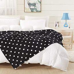 COCOPLAY W Black Throw Blanket, White Polka Dots Flannel Fleece 50×60 Inches, All Season Super L...   Amazon (US)