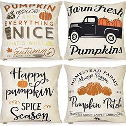 FOOZOUP Fall Thanksgiving Pumpkin Throw Pillow Covers 18x18 Harvest Pillowcases Decorations for H...   Amazon (US)