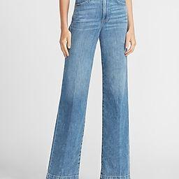 High Waisted Lightweight Wide Leg Jeans   Express