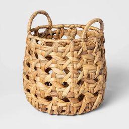 Decorative Cane Pattern 8 Sided Open Weave Basket Natural - Threshold™ | Target