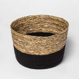 Round Basket in Braided Matgrass & Black Coiled Rope - Threshold™ | Target