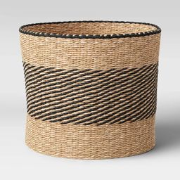 """Round Seagrass Basket Striped 12"""" x 14"""" Natural/Black - Project 62™ 