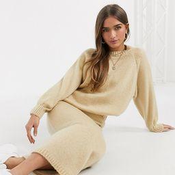 ASOS DESIGN Petite co-ord knitted midi skirt in cream | ASOS (Global)