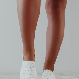 Clear To Me Sneakers: White | Shophopes