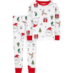 Toddler Carter's 2-Piece Christmas Pajamas, Toddler Boy's, Size: 3T, White Santa Face | Kohl's