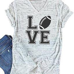 JINTING Women Football Love Shirts Football Graphic Tee Shirt Football Lover Shirt Gifts   Amazon (US)