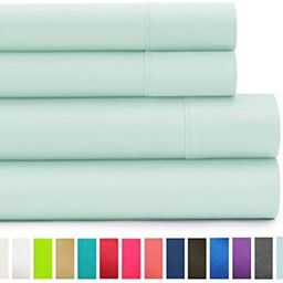 American Home Collection - Deluxe 4 Piece Bed Sheet Sets of Brushed Microfiber - Wrinkle Resistan... | Amazon (US)