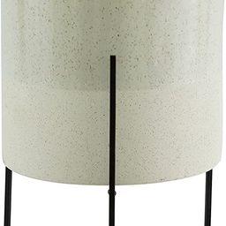 "Amazon Brand – Rivet Mid-Century Ceramic Planter with Iron Stand, 17""H, Pale Green | Amazon (US)"