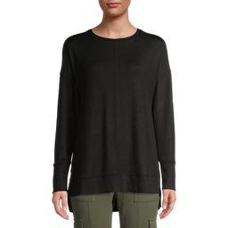 Time and Tru Women's Crew Neck Hacci Tunic T-Shirt   Walmart (US)