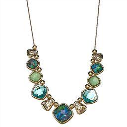Napier Gold & Green Stone Statement Necklace | Kohl's