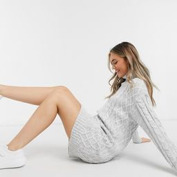 Brave Soul reni cable knit sweater dress with roll neck | ASOS (Global)