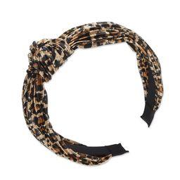 Wild Primrose by scünci Knotted Leopard Print Headband | Walmart (US)