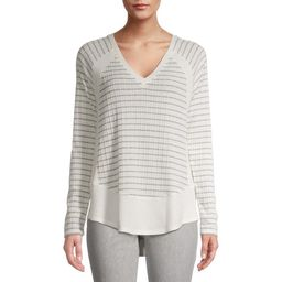 Time and Tru Women's V-Neck Hacci Top   Walmart (US)