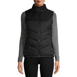 Time and Tru Women's Reversible Puffer Sherpa Vest   Walmart (US)