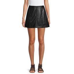 No Boundaries Juniors' High Rise A-line Paneled Faux Leather Skirt   Walmart (US)