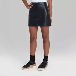 Women's Faux Leather Mini Skirt - Wild Fable™ Black   Target