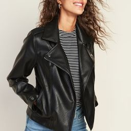 Faux-Leather Moto Jacket for Women | Old Navy (US)