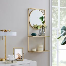 Alayna Glam with Shelves Accent Mirror | Wayfair North America