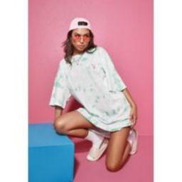 Playboy X Missguided Mint Tie Dye Oversized T Shirt Dress   Missguided (US & CA)