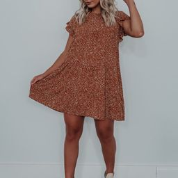 Pick Of The Patch Dress: Terracotta/Beige   Shophopes