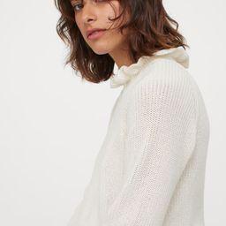 Ruffled Ribbed Sweater   H&M (US)