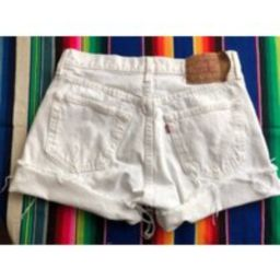 Vintage 80S/90S White Levi's 501 Cut Off Jean Shorts Size 32 Inch Waist Button Fly Made in Usa   Etsy (US)