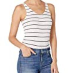 DKNY Women's Seamless Litewear Scoop Neck Rib Bodysuit w/Snap Closure, poplin Stripe Dark, Medium   Amazon (US)