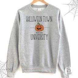 Halloween Shirt-Halloween Town University Shirt-Halloween T shirt-Womens Halloween Sweatshirt-Fun... | Etsy (US)