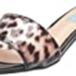 Betsey Johnson Blue Women's SB-Alani Heeled Sandal, Black/Leoaprd, 6 M US | Amazon (US)