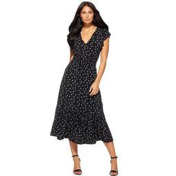 Sofia Jeans by Sofia Vergara Women's Short Sleeve Smocked Waist Midi Dress | Walmart (US)