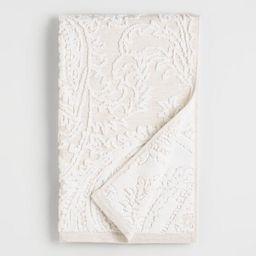 Alexandra Linen Flower Hand Towel | World Market
