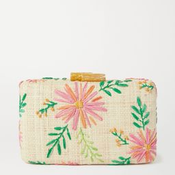Claire embroidered straw clutch | Net-a-Porter (US)