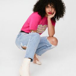 Cut to the Chase High-Waisted Mom Jeans | NastyGal (US & CA)
