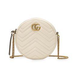 Gucci Women's GG Marmont Mini Round Shoulder Bag - White | Saks Fifth Avenue
