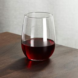 Stemless Red Wine Glass 17 oz + Reviews   Crate and Barrel   Crate & Barrel